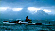 rowing off Spitsbergen